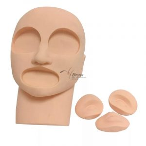 3D Silicon Mannequin Head for Eyebrow Eyeliner Lip Tattoo Microblading Permanent Makeup Practice