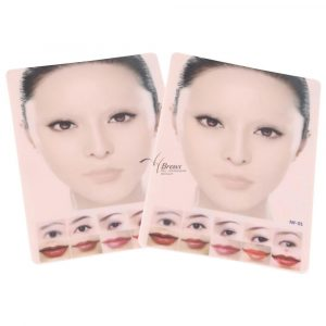 Famous Star Face Rubber Tattoo Practice Skin for Eyebrow Lip Microblading